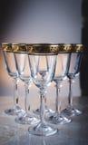 Champagneexponeringsglasen Royaltyfria Bilder