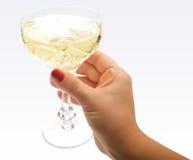 champagneexponeringsglashand Arkivfoto