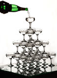 champagneexponeringsglaskull Royaltyfri Foto