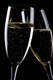 champagneexponeringsglasmakro två Royaltyfri Bild