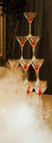 champagneexponeringsglastorn Royaltyfria Foton