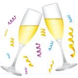 champagneexponeringsglasvektor stock illustrationer