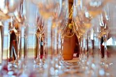 champagneflöjter Royaltyfria Foton