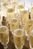 Champagneflöjter Arkivfoto