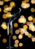 Champagneflöjtfärgstänk fotografering för bildbyråer