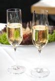 champagneglaces Royaltyfri Foto