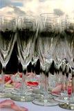 champagneglases Arkivbilder