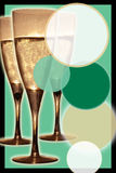 champagneinbjudan Arkivbilder