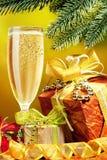 champagnejul som sparkling arkivbild