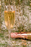 champagnejulprydnadar Royaltyfria Bilder