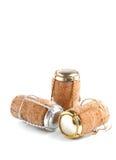 Champagnekorkar Arkivfoton