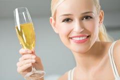 champagnekvinna arkivfoton