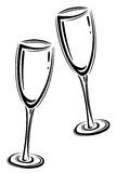 Champagner glasses Stock Images