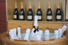 Champagner Moet und Chandon stellte sich in der nationalen Tennis-Mitte während US Open 2014 dar Stockbilder