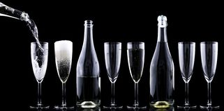 Champagner, Toasting Royalty Free Stock Image