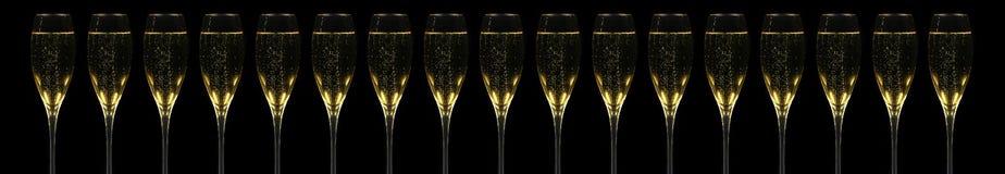 champagnerflöjter royaltyfri foto