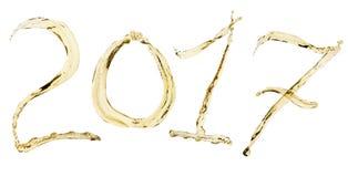 Champagnerspritzen 2017 Stockfotos