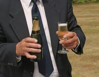 champagneserving Royaltyfri Bild
