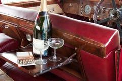 champagneserving arkivbild