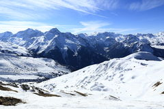 Champagny, Plagne Centre, Winter landscape in the ski resort of La Plagne, France Stock Photo