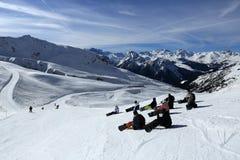 Champagny, Winter landscape in the ski resort of La Plagne, France Royalty Free Stock Photo