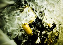 Champaign. Bucket at a wedding royalty free stock photography