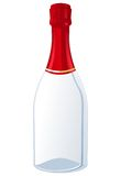 Champaign. An empty bottle of champaign royalty free illustration