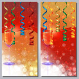 Champaign Greeting Card. Background for your text Stock Images