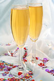 Champaign set of glasses I love you. Nice display of a glasses for celebration Royalty Free Stock Images