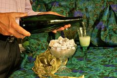 Champaign and Turkish Delight Stock Images