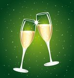 2018 Champaign vector toast. Magic night. 2018 Champaign vector toast. Congratulations or happy new year illustration on ablue starry night background Royalty Free Stock Images
