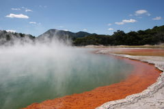 Champaigne pool. Rotorua, New Zealand Stock Photos
