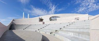 Champalimaud基础的圆形露天剧场-未知数中心 免版税库存照片