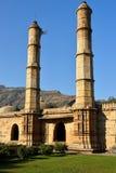 Champaner - arkeologiska Pavagadh parkerar nära Vadodara, Indien royaltyfria bilder