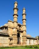 Champaner - arkeologiska Pavagadh parkerar nära Vadodara, Indien arkivbilder