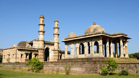 Champaner - het Archeologische Park van Pavagadh dichtbij Vadodara, India Royalty-vrije Stock Foto's