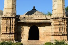 Champaner - Pavagadh Archaeological Park near Vadodara, India. Champaner - Pavagadh Archaeological Park is a historical city in the state of Gujarat. Kevda Stock Image
