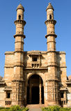 Champaner - Pavagadh Archaeological Park near Vadodara, India. Champaner - Pavagadh Archaeological Park is a historical city in the state of Gujarat. Jami Masjid royalty free stock photo