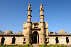 Champaner - Pavagadh Archaeological Park near Vadodara, India. Champaner - Pavagadh Archaeological Park is a historical city in the state of Gujarat. Jami Masjid Stock Photo