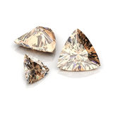 Champange Diamonds  trilliant cutting Stock Images