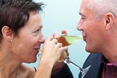 Champanhe bebendo dos pares foto de stock royalty free