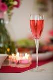 Champanhe cor-de-rosa fotos de stock