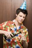Champanhe de derramamento do homem de negócios Foto de Stock Royalty Free