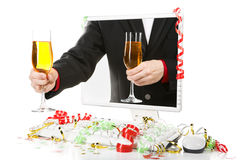 Champanhe de oferecimento Imagem de Stock