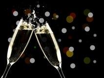 Champanhe do brinde, ano novo imagens de stock