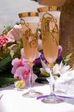 Champanhe do casamento Fotos de Stock Royalty Free