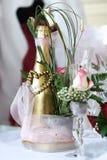 Champanhe do casamento Foto de Stock