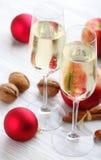Champanhe do Natal Imagem de Stock Royalty Free