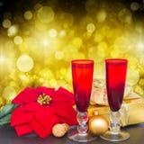 Champanhe 2012 do Natal Imagem de Stock Royalty Free