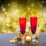 Champanhe 2012 do Natal Imagens de Stock